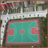 香洲建一个篮球场得多少钱?篮球场地面施工图 epdm彩色颗粒地垫 硅pu材料价格