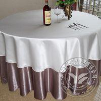 2015年工厂生产  双层纯色涤纶酒店桌布  高档酒店餐厅餐桌布套装