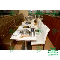 供应厂家餐饮桌子 可按客户要求定做火锅店桌子 西餐厅电磁炉火锅餐桌