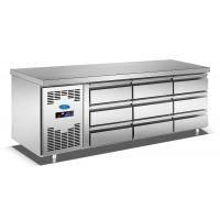 不锈钢厨房冷藏柜 抽屉式保鲜工作台 六抽冰柜制冷设备厂家批发