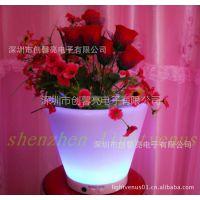 供应发光花盆容器 室外花园装饰 创意迷你花盆 园艺发光花盆灯