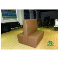 中餐厅软包卡座 连锁餐厅双人沙发 甜品店西皮卡座沙发 工厂订制