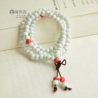 景德镇陶瓷手链 冰裂蓝 108吉祥佛珠 串珠 手制陶瓷饰品 礼物