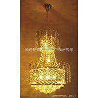 精品黄色水晶灯吊灯餐厅灯饰灯具189