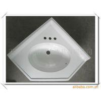 供应各种精美高品质三角台盆 艺术台盆 人造石台盆 浴室柜台盆