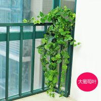 批发 仿真花藤条 家居绿色植物墙装饰假花藤 塑料仿真藤条
