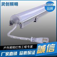 四川阆中单色LED护栏管生产家双重防水1000多家工程见证-灵创照明