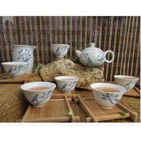 景德镇经典 精品陶瓷茶具 手绘功夫茶套组 旅行茶具 日用茶杯茶壶