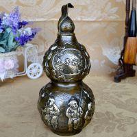 纯铜葫芦风水摆件九子祝寿铜葫芦大号贺寿礼物家居装饰工艺礼品