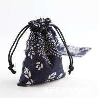 现货批发陶瓷首饰包装 民族特色青花布袋 首饰包装碎花布袋子