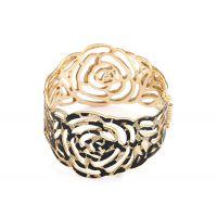 欧美饰品批发 个性精美 时尚大方镂空叶玫瑰花手镯