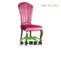 软包椅子 五金椅子 欧式椅 铁艺椅子 深圳酒店家具生产厂家