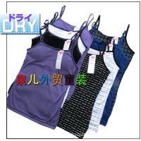 外贸童装 出口日本原单大童夏季速干吊带衫 发育期女生可加胸垫!