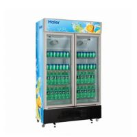 Haier/海尔SC-650G双门立式展示柜 超市双门饮料展示柜