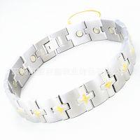 德利鑫DLXZZ18K玫瑰金手链强磁N35防辐射抗疲劳心形不锈钢手链时尚保健