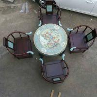 户外庭院摆设景德镇陶瓷手绘牡丹墨彩 瓷桌 桌凳套装 一桌四凳 和艺陶瓷