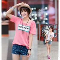 供应全国几元夏季便宜短袖T恤韩版女装短袖T恤女装短袖T恤批发