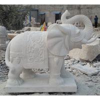 供应汉白玉石雕大象雕刻曲阳厂家定制