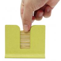横置牙签盒 牙签筒 小麦秸秆纤维制作安全环保 广告促销礼品定制 瑞丰达定制展会随手礼