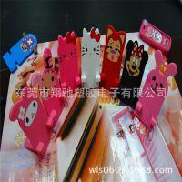 新款阿狸软胶手机支架表情系列 PVC软胶手机架迷你手机架【创意