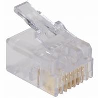全国代理IDC半透明水晶头5-555042-3,TE泰科模块化插头,镀金触头