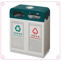 南方GPX-98成都街道环卫大垃圾桶金属烤漆分类环保垃圾箱学校户外果皮桶厂家全国供销
