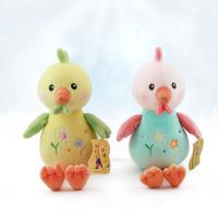 青岛均阳厂家批发短毛绒生肖小酉鸡毛绒玩具 儿童抓机娃娃公仔