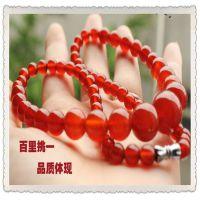 天然巴西红玛瑙塔链挂件批发 手工串珠红色塔式款时尚创意必备款