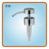 龙安塑料F15方便按压液瓶泵头 手动式卫浴压泵 洗手液喷头喷嘴