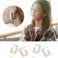 韩国饰品 来自星星的你同款耳钉 珍珠耳钉 饰品批发 8056