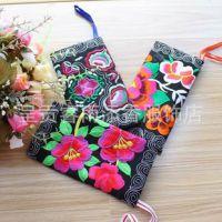 女包 民族风绣花包 双面刺绣女式手拿包 零钱包 手提包 小零钱包