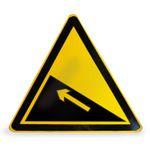 供应铝质交通反光牌三角反光警示牌制作厂定做道路指示牌交通夜光标牌批发