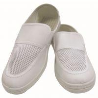 厂家供应防静电单网眼鞋 白色皮革无尘鞋 无尘室食品厂工作鞋