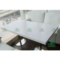 颜色丰富的大理石餐桌 厂家专供定制 中式方形桌子 仿大理石餐桌 运达来