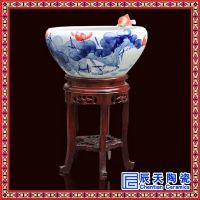 陶瓷手绘喷泉定做 室内加湿器陶瓷喷泉 流水盆景 陶瓷鱼缸 陶瓷流水喷泉
