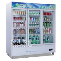 三开门冷柜BC-1350C3Z 便利店三门饮料展示柜 东洋三门直冷藏柜 饮品店制设备 机械控温冷柜