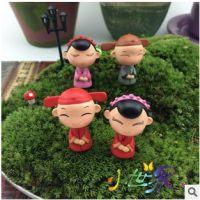 苔藓多肉微景观饰品 卡通喜庆结婚娃娃 DIY组装玩具小摆件