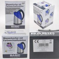 德国WOOLWORTH(伍尔沃斯)烧水变色食品级304不锈钢塑料电热水壶