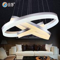 出彩时尚LED吊灯 超薄圆形客厅餐厅灯现代创意办公室亚克力艺术吊灯8029