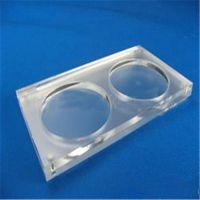 白色透明有机玻璃杯垫   方形圆孔亚克力杯垫  深圳亚克力制品
