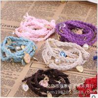 欧美外贸出口首饰手工多层皮革编织多元素珍珠手链女厂家批发促销