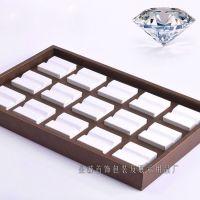 高端PU皮裸钻展示盘 水晶钻首饰盘 珠宝道具 彩宝界面盘