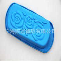 厂家直销创意长方形玫瑰花硅胶蛋糕模具吐司面包模烘焙工具