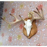 仿真鹿头墙饰树脂工艺品动物头壁挂欧式挂件创意家居装饰工厂直销
