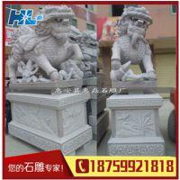 福建石雕动物加工公园石材工艺品麒麟 高品质麒麟汉白玉石雕 雕刻