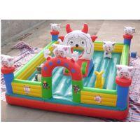 特价儿童充气城堡乐园 小孩气垫床 户外大型玩具维护方法
