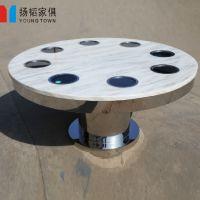 深圳工厂 大理石餐桌 大理石火锅桌 火锅桌椅 连锁餐饮家具