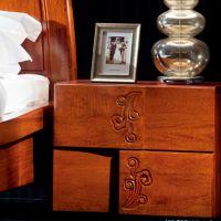 客房床头柜 中式实木酒店卧室储存小床头柜 来图定制 批发