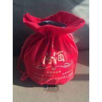 郑州酒类绒布袋生产定制,礼品袋批发,布料简单大气