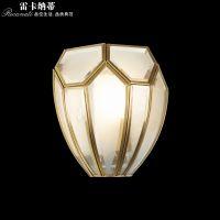 雷卡纳蒂欧式全铜灯全铜客厅背景卧室订床壁灯欧式古典风格书房装饰灯具卫生间镜前灯